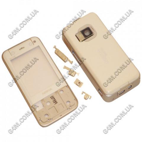 Корпус Nokia N81 8Gb белый с серебристой средней частью (High Copy)