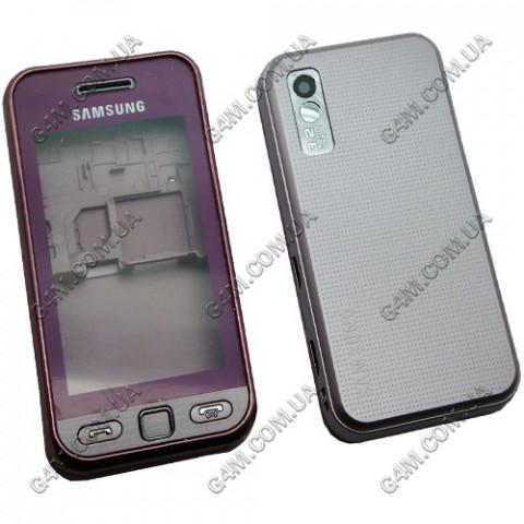 Корпус Samsung S5230 розовый с клавиатурой (High Copy)