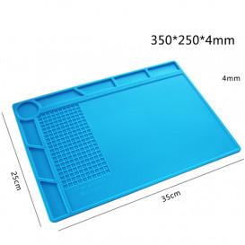 Силиконовый термостойкий коврик для пайки S-120 (34см на 23см) белый