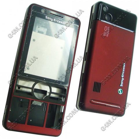 Корпус Sony Ericsson G900 красный, High Copy