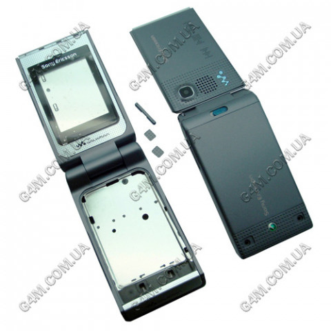 Корпус Sony Ericsson W380 тёмно серый, High Copy