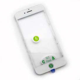 Стекло сенсорного экрана с рамкой и OCA пленкой для Apple iPhone 8 белое