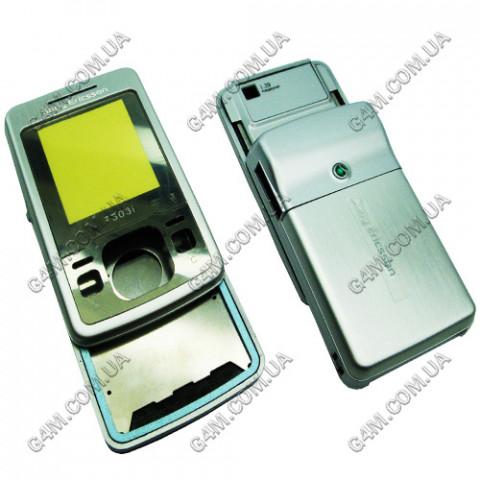 Корпус Sony Ericsson T303i серебристый, High Copy