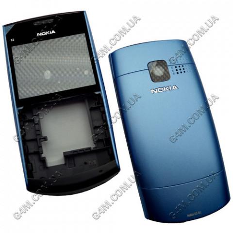 Корпус Nokia X2-01 голубой (High Copy)