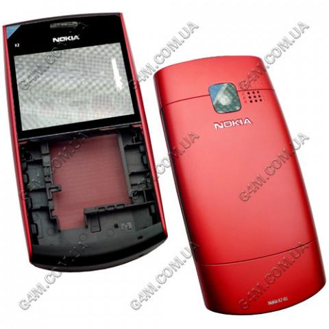 Корпус Nokia X2-01 красный (High Copy)