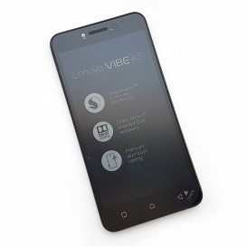 Дисплей Lenovo A6020a40, Vibe K5 с тачскрином и рамкой, черный (Оригинал)
