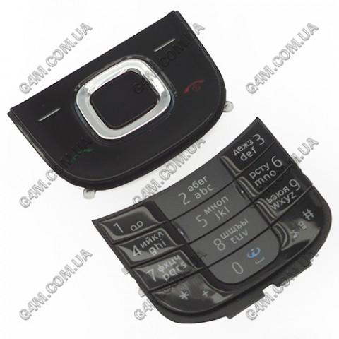 Клавиатура Nokia 2680 slide черная, русская (Оригинал)
