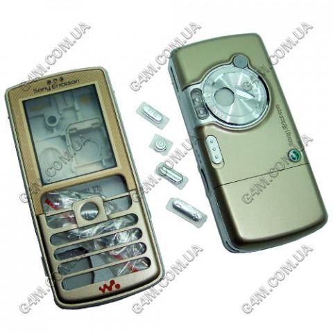 Корпус Sony Ericsson W700, W800 бронзовый с серебристой средней частью (High Copy)