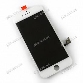 Дисплей Apple iPhone 7 с тачскрином и рамкой, белый, Оригинал