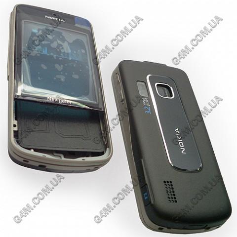Корпус Nokia 6210 Navigator темно-коричневый с бронзовой средней частью (High Copy)