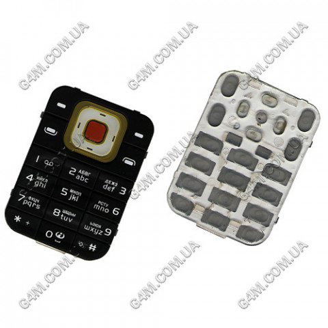 Клавиатура Nokia 7370 чёрная, русская, High Copy