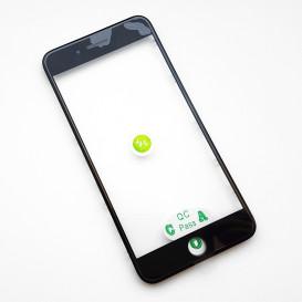 Стекло сенсорного экрана с рамкой и OCA пленкой для Apple iPhone 7 Plus черное