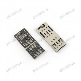 Коннектор Sim карты для Sony E5533 Xperia C5 Ultra Dual, E5563 Xperia C5 Ultra Dual