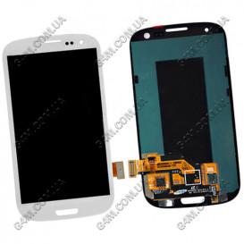 Дисплей Samsung i9300 Galaxy SIII, i9300i Galaxy SIII, i9305 Galaxy S3 белый с тачскрином (Оригинал)