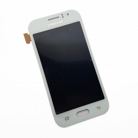 Дисплей Samsung J110G, J110H/DS, J110L, J110M Galaxy J1 Ace, J111F Galaxy J1 Ace Neo, белый, снятый с телефона
