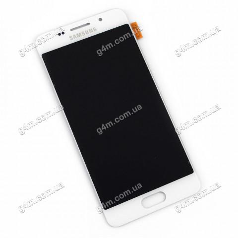 Дисплей Samsung A310F, A310M, A310N, A310Y Galaxy A3 (2016) с тачскрином, белый, снятый с телефона