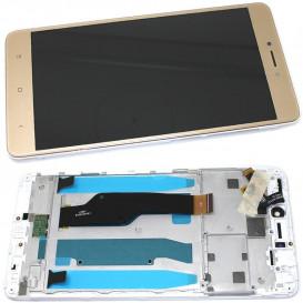 Дисплей Xiaomi Redmi Note 4x с тачскрином и рамкой, золотистый