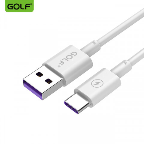 USB дата-кабель Golf High Speed для Type-C 5A белый (GC-42t)