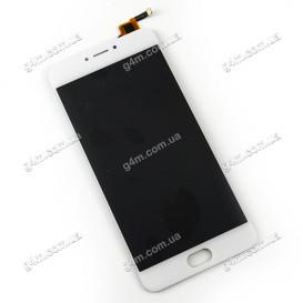 Дисплей Meizu M3 Note (L681H) с тачскрином, белый (боковой шлейф)