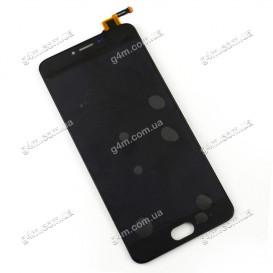 Дисплей Meizu M3 Note (L681H) с тачскрином, черный (боковой шлейф)