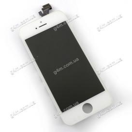 Дисплей Apple iPhone 5 с тачскрином и рамкой, белый (High copy)