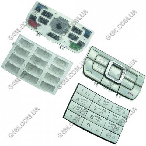 Клавиатура Nokia E66 белая, русская, High Copy