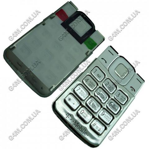 Клавиатура Nokia 7510 Supernova серебристая, кириллица, High Copy