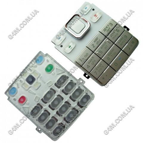 Клавиатура Nokia 6300 белая, русская (High Copy)