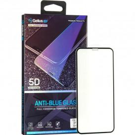 Защитное стекло Gelius Pro Anti-Blue Glass для iPhone X, iPhone XS (черное 5D стекло)