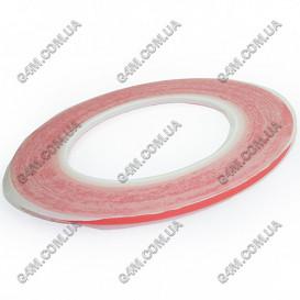Двусторонний прозрачный, силиконовый скотч ширина 3 мм (30 метров)