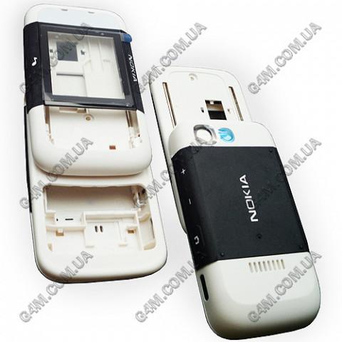 Корпус Nokia 5200 Xpress Music черный с белым (полный комплект) High Copy