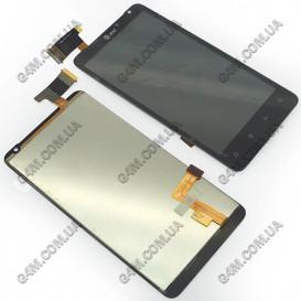 Дисплей HTC G19 X710e Raider 4G с тачскрином, черный (Оригинал)