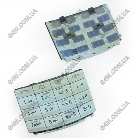 Клавиатура Nokia X3-02 белая, кириллица (High Copy)