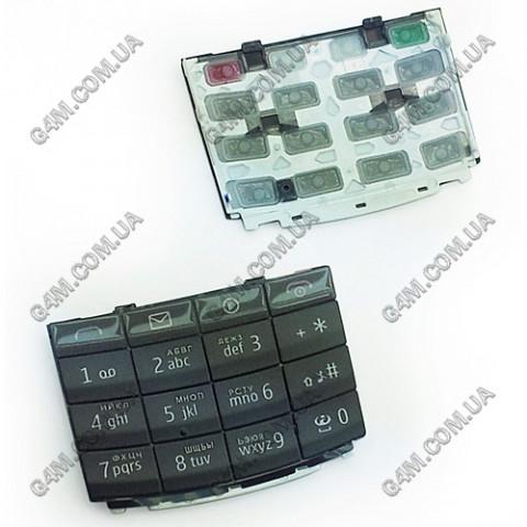Клавиатура Nokia X3-02 темно-серая, русская (High Copy)