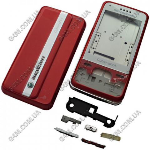 Корпус Sony Ericsson C903 красный, High Copy