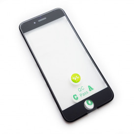 Стекло сенсорного экрана с рамкой и OCA пленкой для Apple iPhone 6S черное