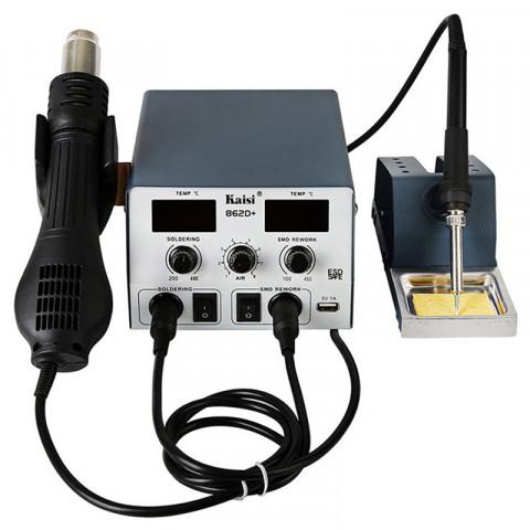Паяльная станция Kaisi 862D+ (Фен + паяльник, с двумя led индикаторами)