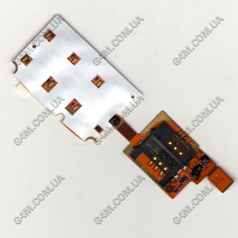 Модуль Сим карты с платой клавиатуры Sony Ericsson T303