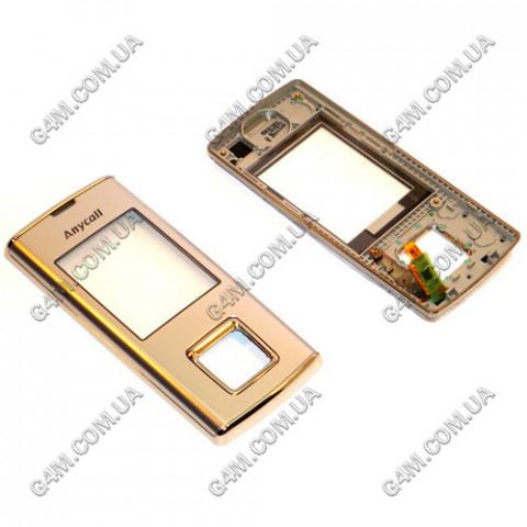 Передняя панель с сенсорными кнопками Samsung J600 серебристая, ОРИГИНАЛ