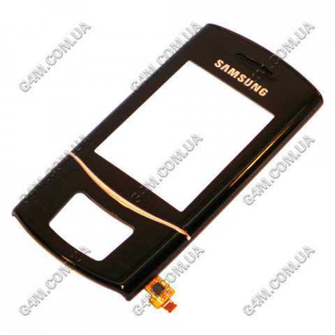 Передняя панель с сенсорными кнопками Samsung S5050 чёрная, ОРИГИНАЛ