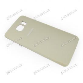 Задняя крышка для Samsung G920F Galaxy S6 золотистая (Оригинал)