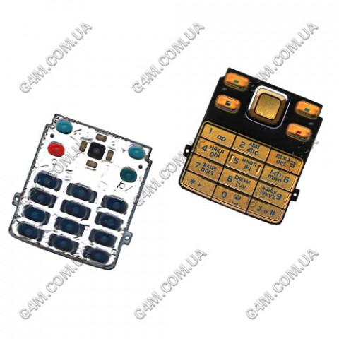 Клавиатура Nokia 6300 золотая, русская (High Copy)