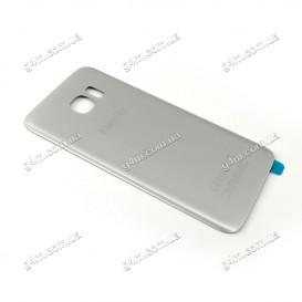 Задняя крышка для Samsung G935F Galaxy S7 Edge серебристая (High copy)