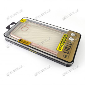 Накладка Baseus для Samsung G935F Galaxy S7 Edge силиконовая, Pink