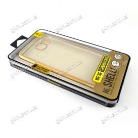 Накладка Baseus для Samsung G935F Galaxy S7 Edge силиконовая, Gold