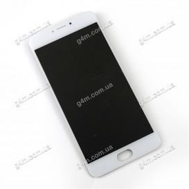 Дисплей Meizu M3 Note (M681H) с тачскрином, белый (шлейф вверх)