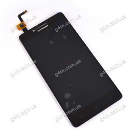 Дисплей Lenovo A6000, A6010, K3, K3 Lemon, K30-T, K30-W с тачскрином, черный (Оригинал)
