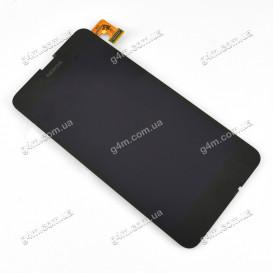 Дисплей Nokia Lumia 630, 630 Dual SIM, 635, 636, 638 (RM-976) с тачскрином, черный (Оригинал)