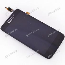 Дисплей Lenovo S650 с тачскрином черный (Оригинал China)