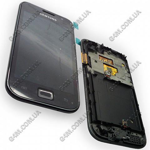 Дисплей Samsung i9003 Galaxy SL с тачскрином и рамкой (Оригинал)
